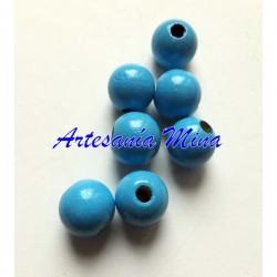 Bola de madera 8 mm azul