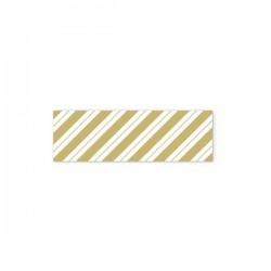 Washi tape bandas doradas...