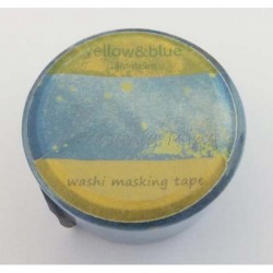 Washi tape azul con motitas...