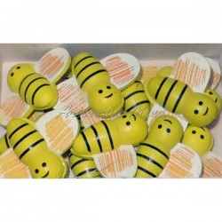 Aplique abeja madera 3 x...