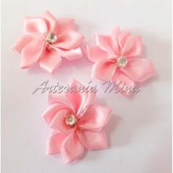 Flor 30 mm cinta satén rosa...