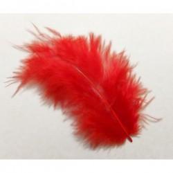 Pluma marabú 9/12 cm rojo