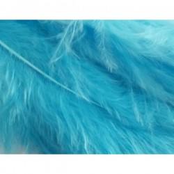Pluma marabú 9/14 cm azul