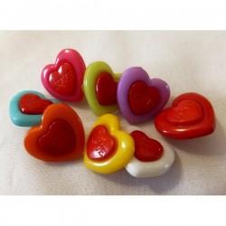 Botón corazón colores mix...