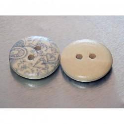 Botón madera 18 mm corazones