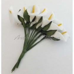 Ramillete foamy calla lily...