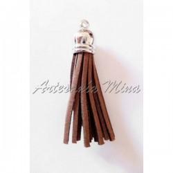 Borla antelina 6 cm marrón...