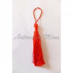 Borla larga hilo 13,5 cm rojo