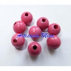 Bola madera 8 mm rosa medio