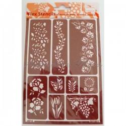 Plantilla flexible stencil...