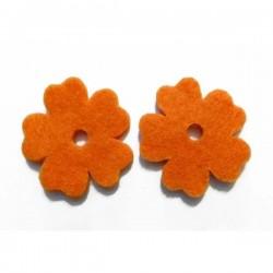 Flor fieltro 33 mm. naranja