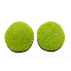 Fieltro círculo 27 mm. verde