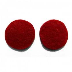 Fieltro círculo 27 mm. rojo