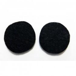 Fieltro círculo 27 mm. negro
