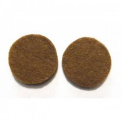 Fieltro círculo 27 mm. marrón