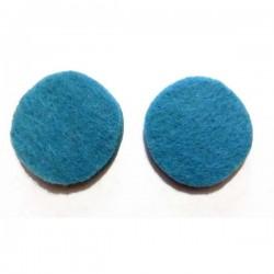 Fieltro círculo 27 mm. azul