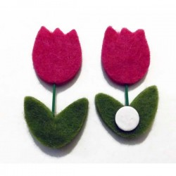 Flor tulipán en fieltro 23...