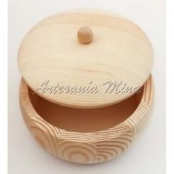 Caja redonda madera con...