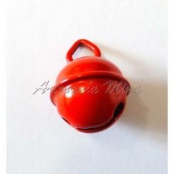 Cascabel 15 mm esmaltado rojo