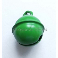 Cascabel 15 mm esmaltado verde