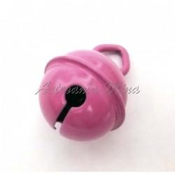 Cascabel 15 mm esmaltado pink