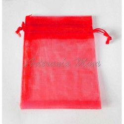 Bolsa organza roja 7 x 9 aprox