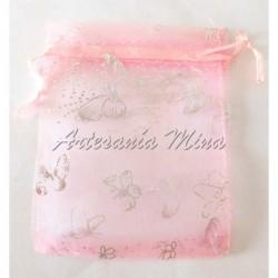 Bolsa organza rosa con...