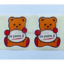 Etiqueta adhesiva forma oso...