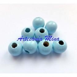 Bola de madera 8 mm azul...