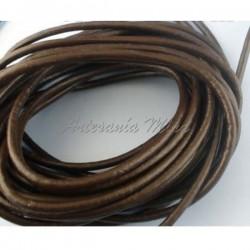 Cordón de cuero 3 mm marrón...