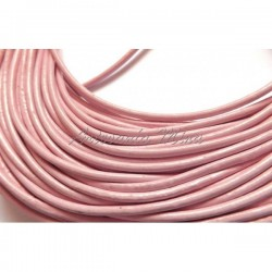 Cordón de cuero 2 mm. rosa...