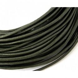 Cordón de cuero 2 mm. verde...