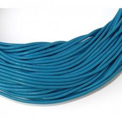 Cordón de cuero 2 mm. azul...