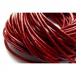 Cordón de cuero 2 mm rojo...