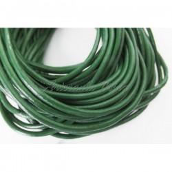 Cordón de cuero 2 mm verde...