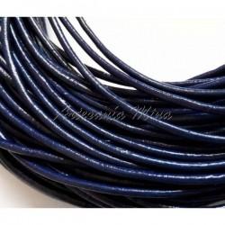 Cordón de cuero 2 mm azul...