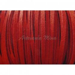 Cordón antelina 3 mm. rojo...