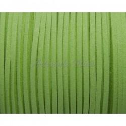 Cordón antelina 3 mm verde...