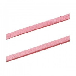Cordón antelina 3 mm rosa...