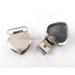 Pinza metal 37 x 28 mm corazón