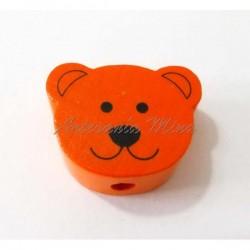 Oso de madera naranja 20 x...