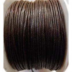 Cordón algodón 1 mm. marrón...