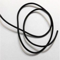 Cordón caucho negro 2 mm (1...