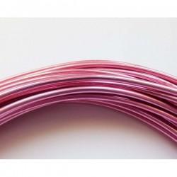 Hilo aluminio 2 mm rosa...