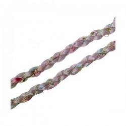 Cordón tela rosa flores...