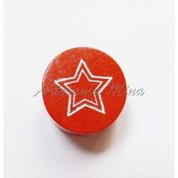 Círculo 20 mm madera rojo...