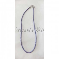 Cordón trenzado 43 cm lila...