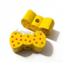 Lacito de madera amarillo...