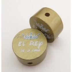 Círculo 20 mm madera dorado...