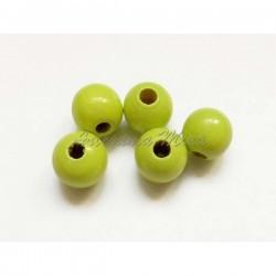 Bola de madera 8 mm verde...
